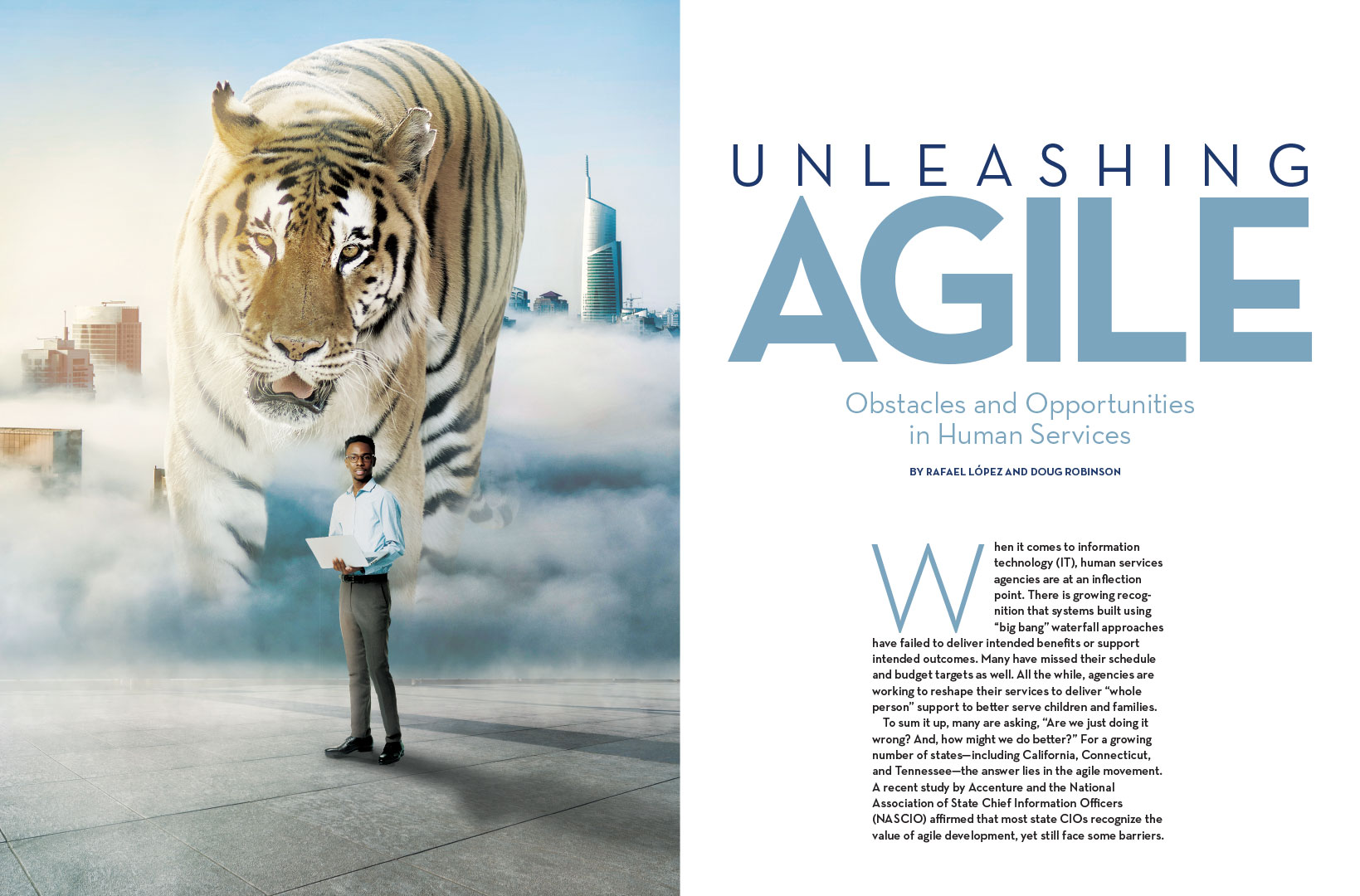 Agile Magazine Spread