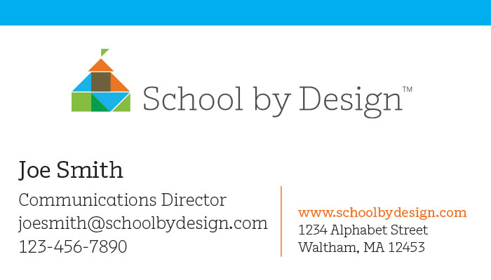 School by Design Business Cards